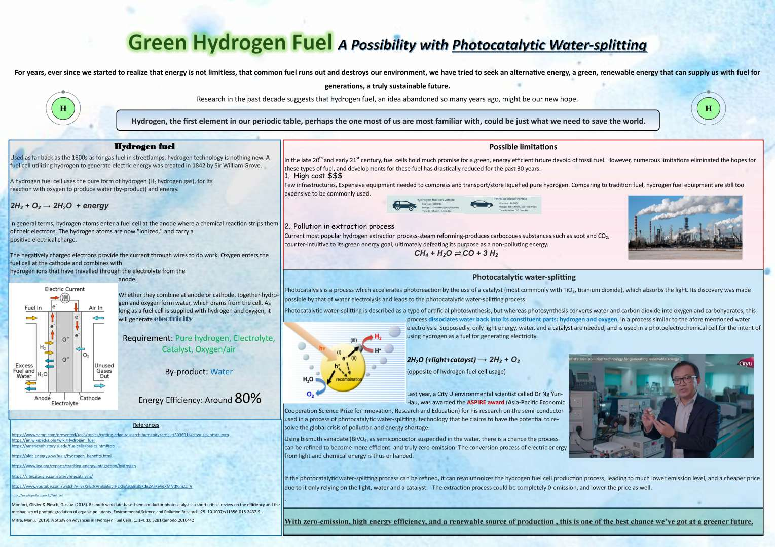 Green Hydrogen Fuel – A possibility with Photocatalytic Water-splitting